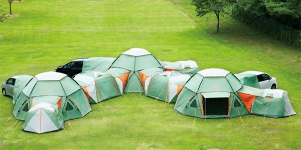 Tent mansionCompany Logo, Tents Cities, Camping, Outdoor, Japanese Design, Kids, Tents Camps, Large Families, Mansions