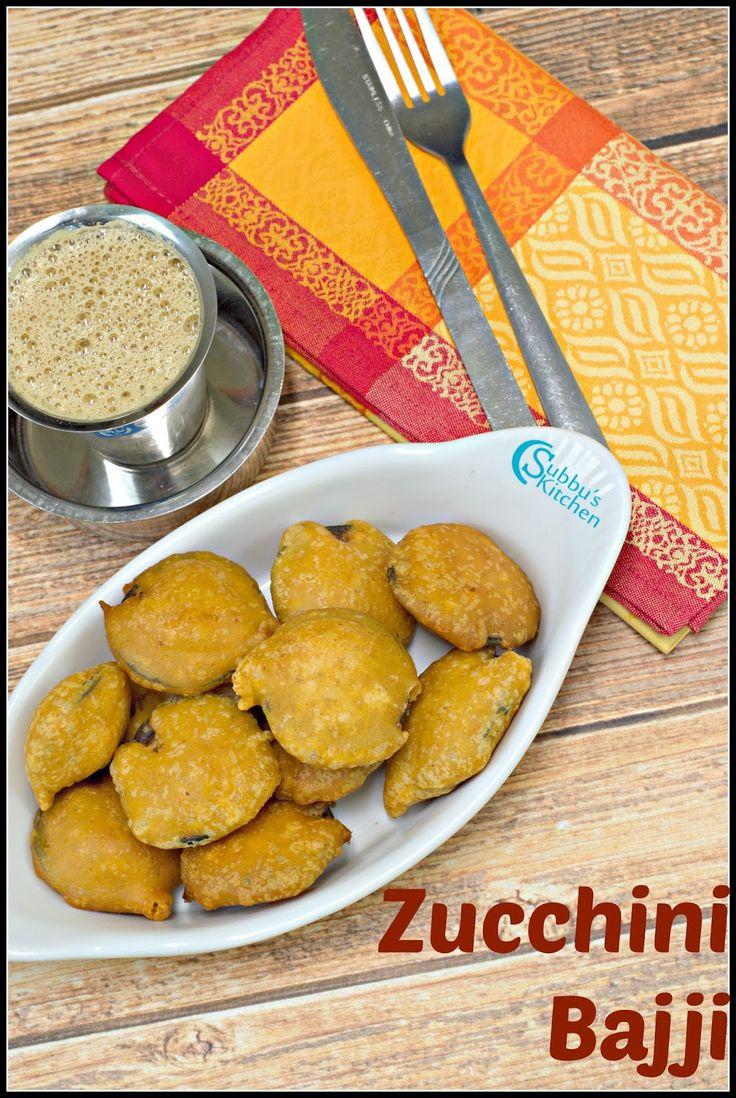Zucchini Bajji Recipe   Zucchini Fritters Recipe
