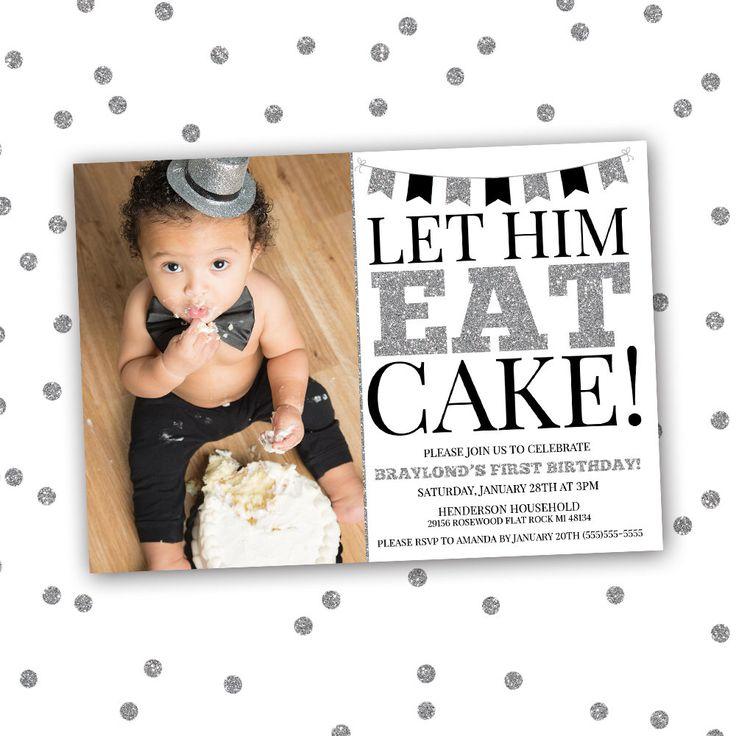 Let Him Eat Cake Birthday Invitation First