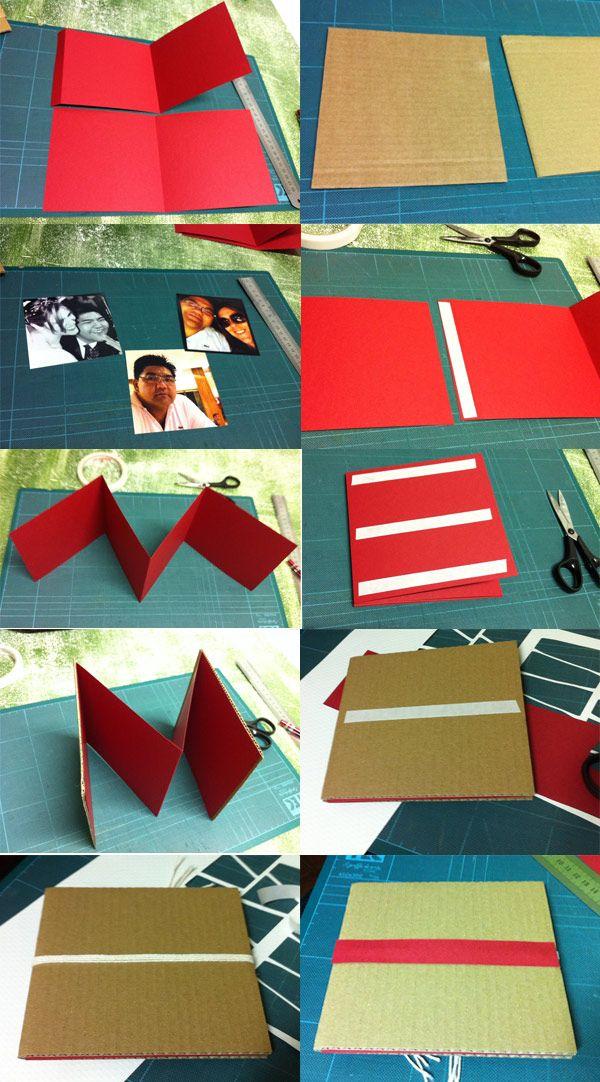 mini book - idea scrapbook mini album facil