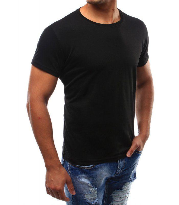 Pánske čierne tričko bez potlače