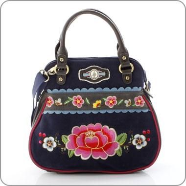 "PIP STUDIO Amsterdam. Tasche Bag ""Embroidery Flowers"" Handbag"
