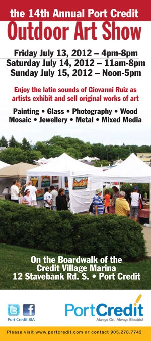 This weekend it's the Port Credit Outdoor Art Show at Credit Village Marina!