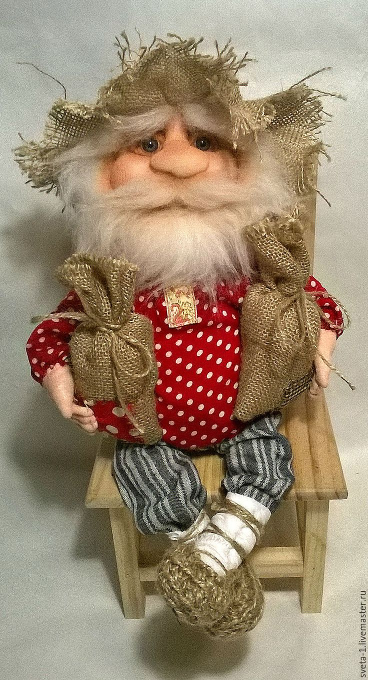 Купить домовой - ярко-красный, домовой, обереги в подарок, оберег для дома, интерьерная кукла, бязь