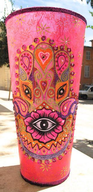 Love this hand of hamsa vase...JW Nini Violette #bornbohemian