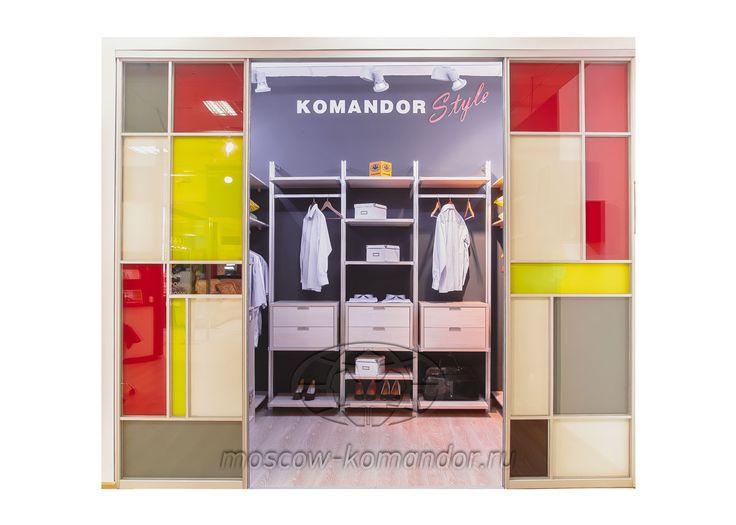 """Гардеробная """"Тетрис"""" Komandor, cтоимость по запросу. Фирменный магазин мебели на заказ KOMANDOR."""