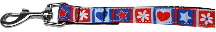 Now available on our store: Stars and Hearts ... , Check it out here : http://www.allforourpets.com/products/stars-and-hearts-nylon-pet-leash-1in-by-6ft