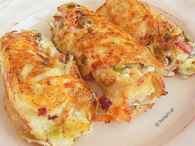 Leek Pie in Phyllo Pastry