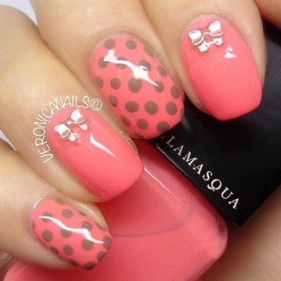 Fotos de uñas pintadas color rosa – 50 ejemplos | Pintar Uñas - Pink nails