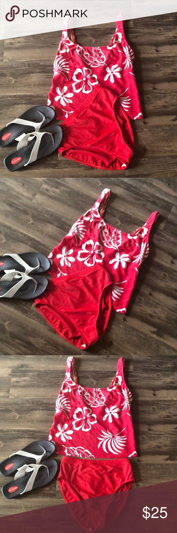 🌻Speedo Tankini Swimsuit Cute Land's End swimsuit. Tankini and high waist b…