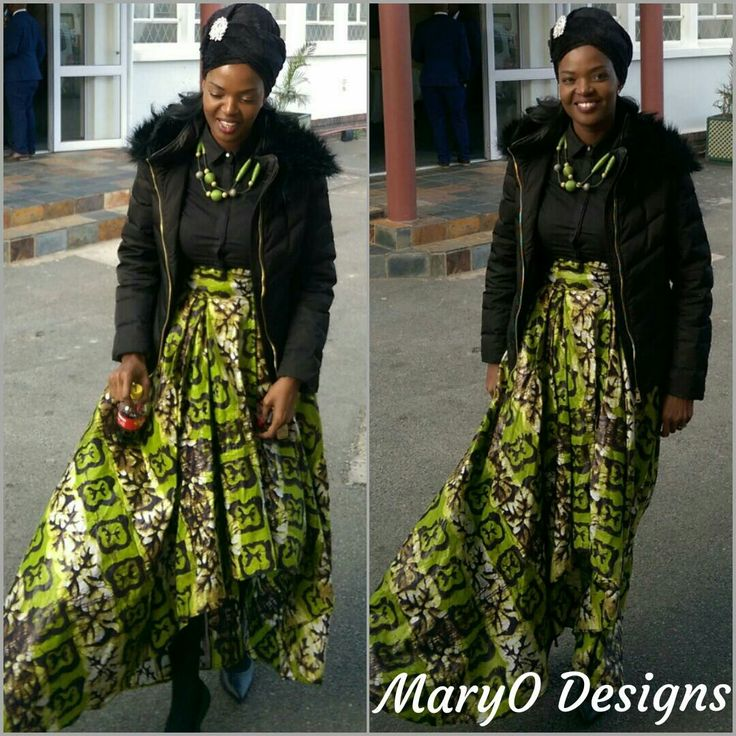 African print skirt  by MaryO