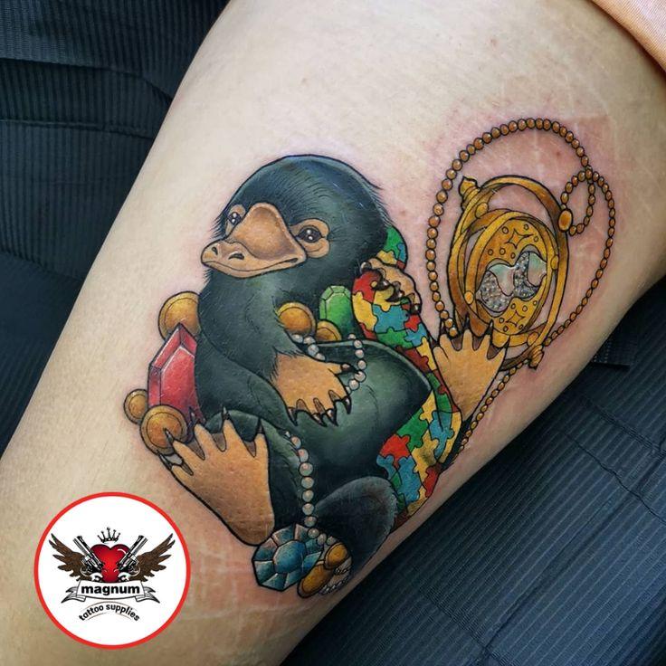 Cute niffler tattoo by gibbs tattooist