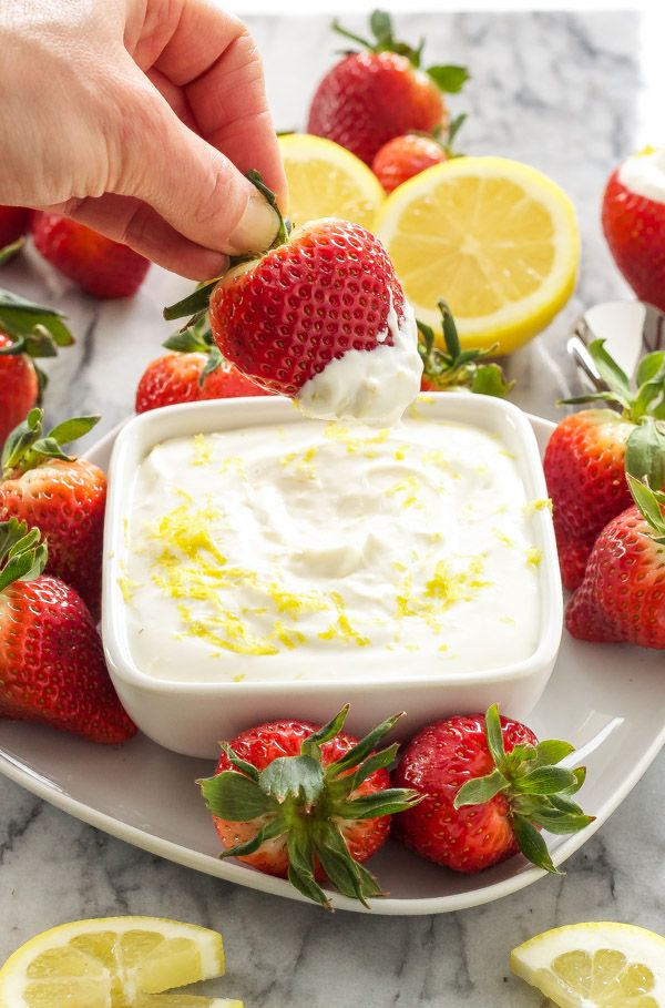 Sweet, lemony, and lightened up cheesecake dip that is sure to satisfy your sweet tooth!