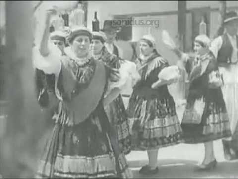 685 Hungary: Folk Dance 1936 Bátai táncok: üveges, ugrós, karikázó