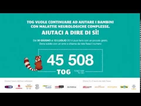 """Dal 30 giugno al 13 luglio invia un SMS al 45508 e dona 2€ a Fondazione TOGETHER TO GO per la campagna """"AIUTACI A DIRE DI Sì"""", volta ad aumentare (da 100 a 120) il numero dei bambini ospitabili presso il Centro di Riabilitazione TOG nel comune di Milano."""