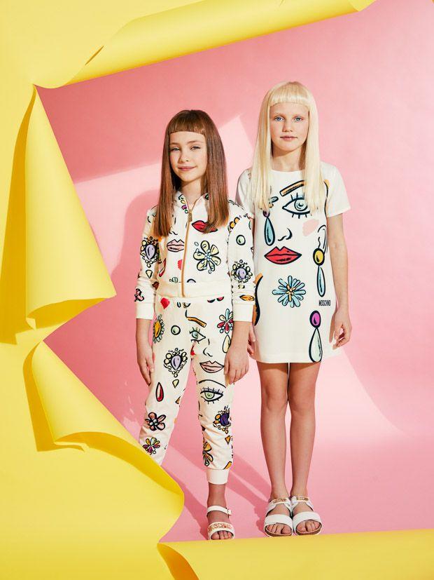 Moschino Eye Pop Colour As Summer Kidswear Goes Bright