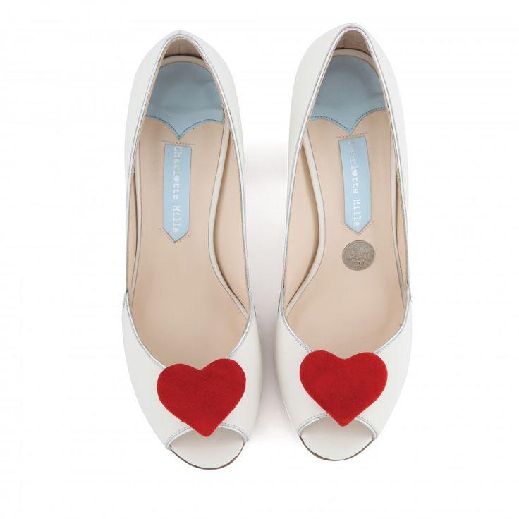 Zapatos de Novia Peep Toe con tacón block modelo Andrea Red de Charlotte Mills ➡️ #LosZapatosdetuBoda #Boda