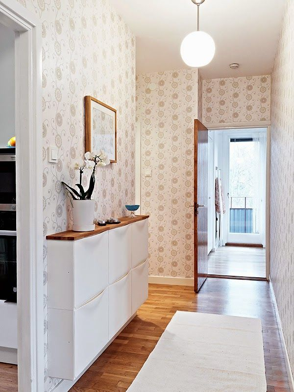 Possible idea for kitchen back door entry. Paint it out all non contrasty...