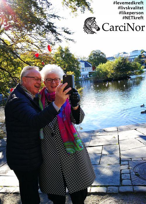Olav og Sølvi, likepersoner i CarciNor og deltakere i Breiavatnet rundt. #aktivmedNET #levemedkreft #NETkreft #livskvalitet #likeperson