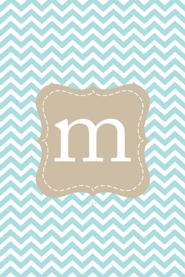 chevron walpapers with intials m. | cute chevron | Pinterest