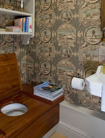 Traditional period-style cloakroom