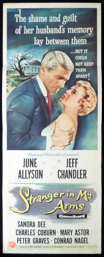 A STRANGER IN MY ARMS Movie Poster Jeff Chandler US Insert