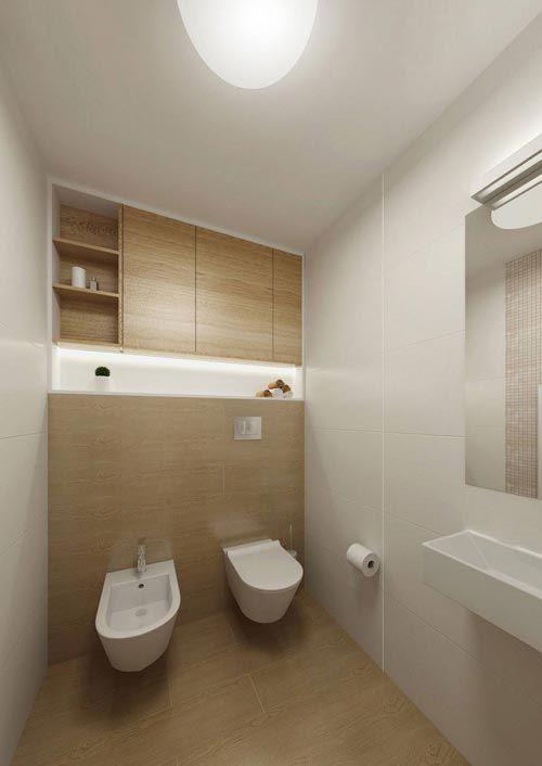 Bidet en hangtoilet op modern toilet