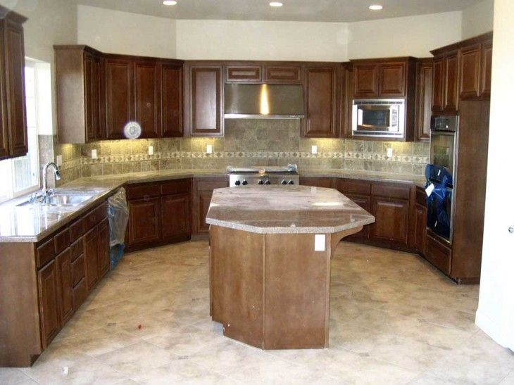 Amazing And Attractive U Shaped Kitchen Design With Countertop - pictures, photos, images