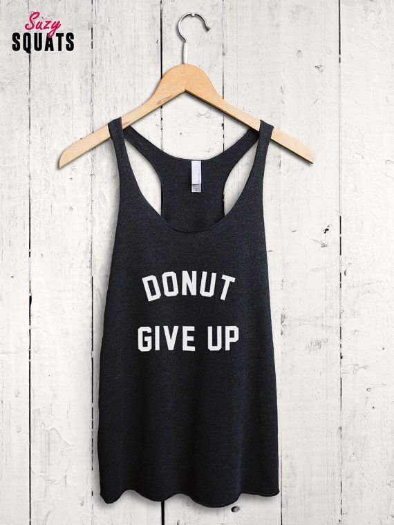 Funny Donut Tank Top  funny donut shirt donut workout top