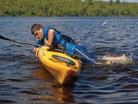 Re-entering a Sit-On-Top Kayak - YouTube
