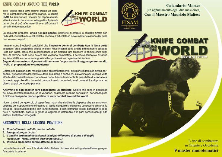 Volantino corso Knife Fighting around the World