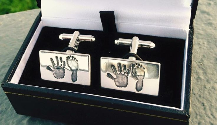 Hand & Footprint silver cufflinks