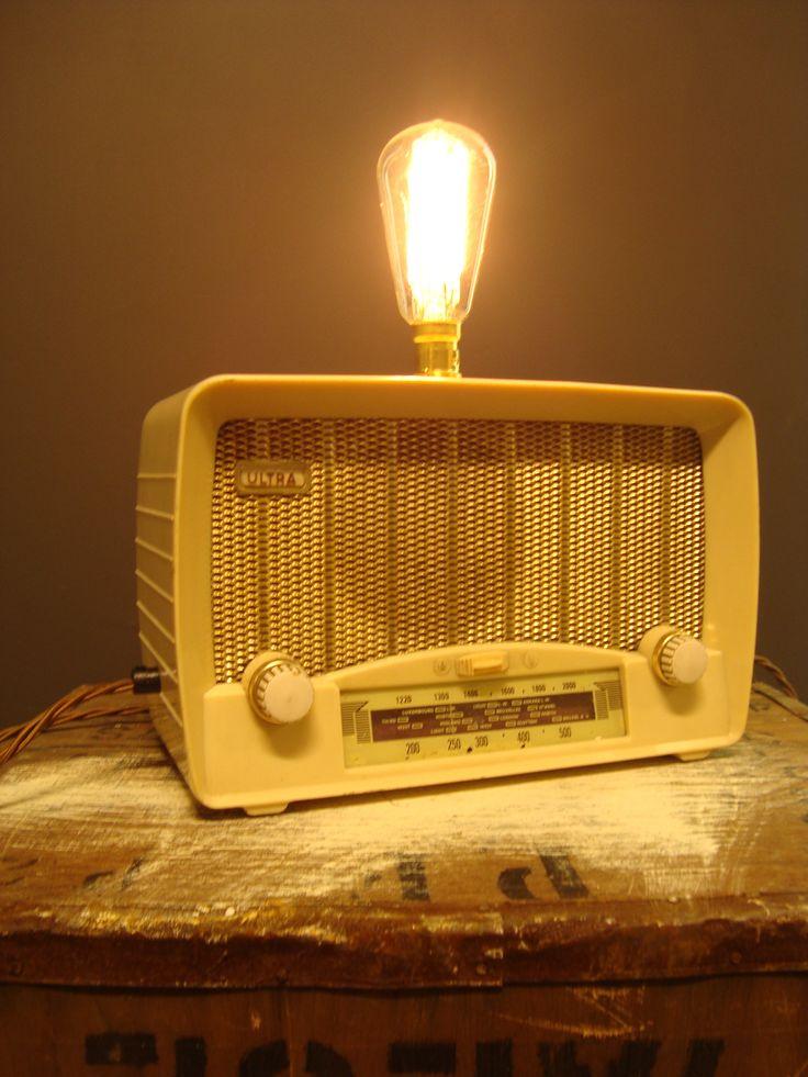Bakelite radio light. Www.lostandfoundry.co.uk