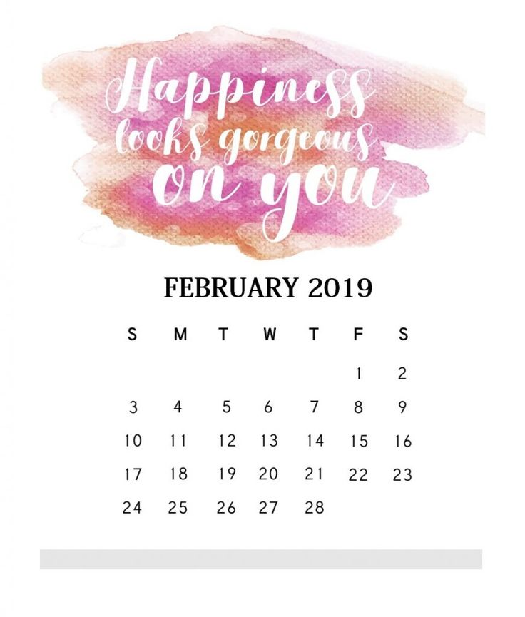 inspirational february 2019 quotes calendar