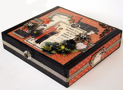 A cigar box altered with G45 Couture. - Scrap, Travel, and Bark!