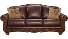 "Ashley Mellwood Collection 6460538 86"" Sofa with 100% Leather"