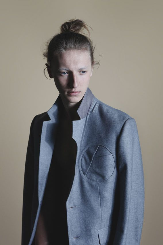 Clothing from Mason Jung. Shooting by Hunter Magazine.  lapels and breast pocket