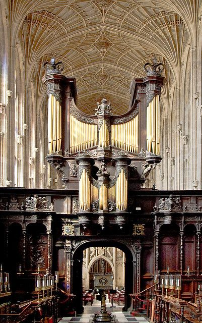 King's College Chapel Rood Screen - erected in 1532-36 by King Henry VIII of England in celebration of his marriage to Anne Boleyn. University of Cambridge, Cambridgeshire, England, UK | by geoff-e, via Flickr ~ Cambridge