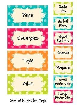 Teacher toolbox labels- editable!