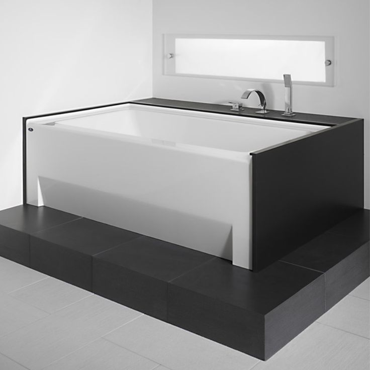 Stylish Black And White Bathtub With Skirt By Produits Neptune / Zora  Collection