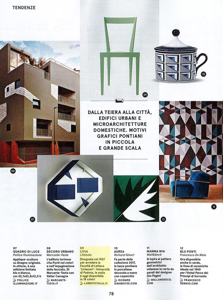 L'Abbate Italia: Living 11.2017. Livia chair > design Gio Ponti.