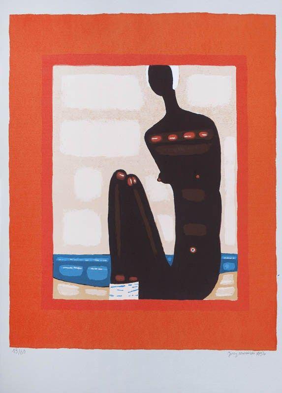 """Jerzy Nowosielski, """"Murzynka na plaży"""" (1997)"""