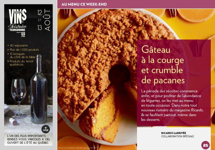 Gâteau àlacourge etcrumble depacanes - La Presse+
