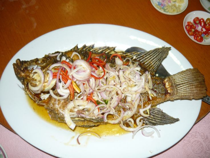 Greenview Restaurant at Jalan Universiti in PJ section 17. Thai style deep fried tilapia.