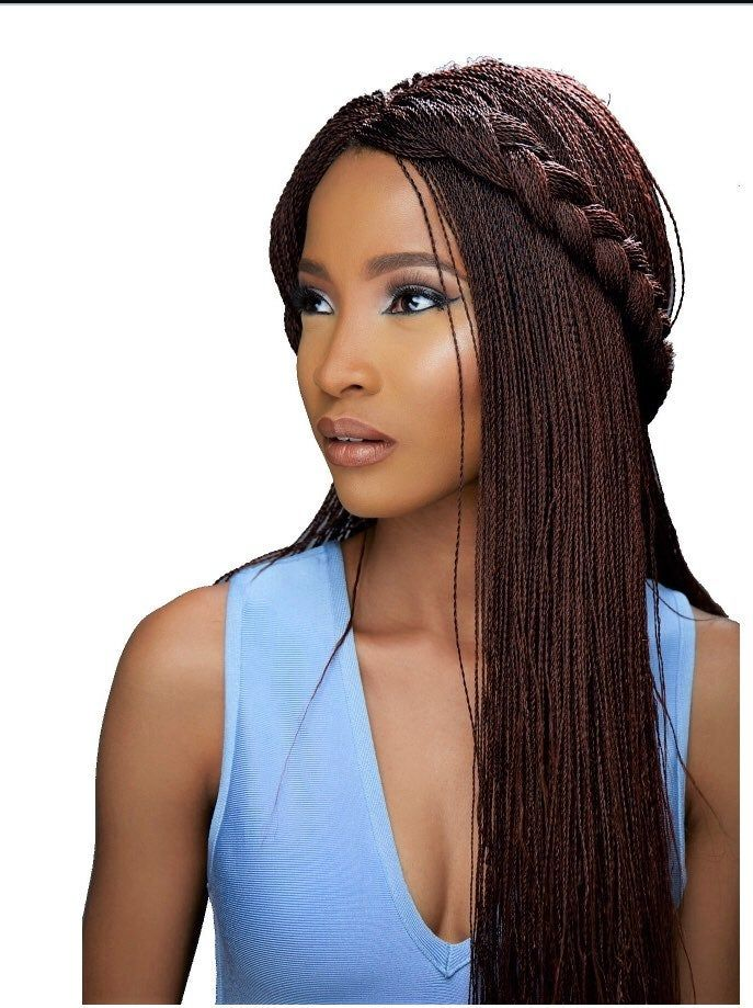 Million Twist Braidwig Lace Closure Length Is 20 Comfortable Fit Easy To Wear One Size Fits All Has A Braided Hairstyles Twist Braids Human Braiding Hair