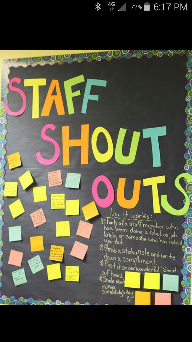 Staff shout outs                                                                                                                                                                                 More