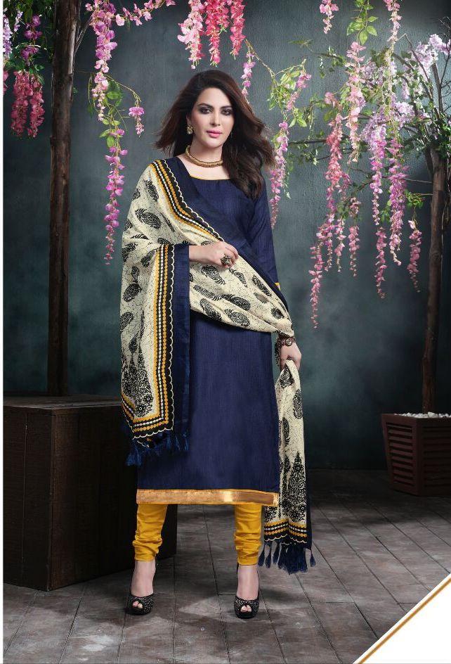 Bhagalpuri Office / Daily Wear Unstitched Salwar Suit – 311 - http://member.bulkmart.in/product/bhagalpuri-office-daily-wear-unstitched-salwar-suit-311/