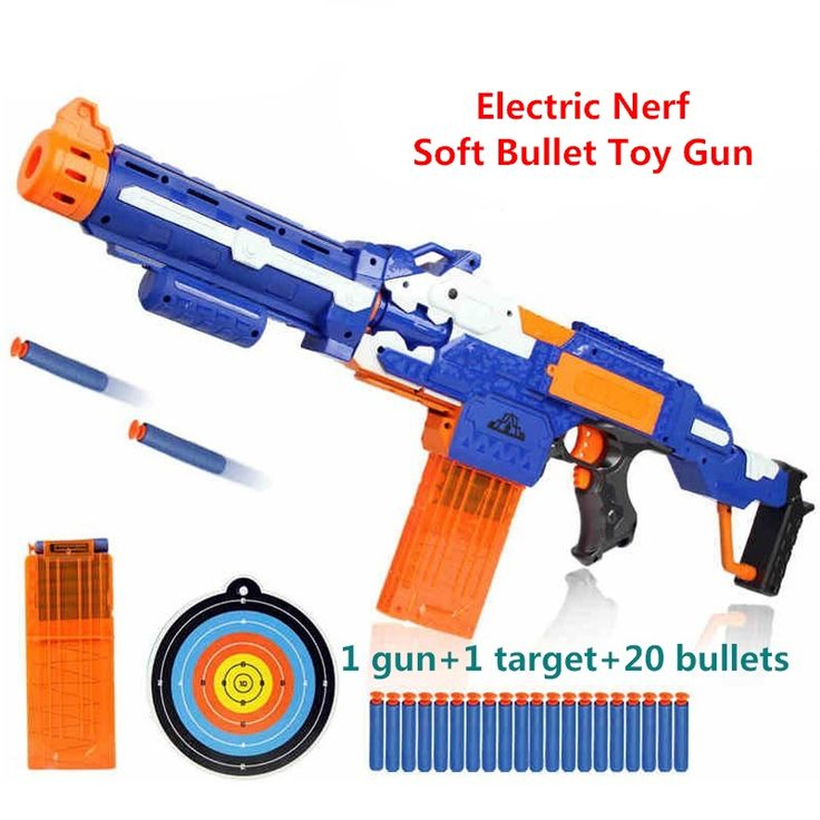 Electric soft bullet toy gun sniper rifle nerf plastic toy gun  for children boys toy submachine gun Best Gift free shipping