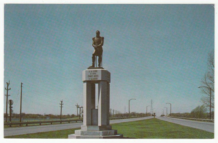 Postcards - Canada # 106 - Sculpture (Charles-Michel d'Irumberry de Salaberry), Salaberry de Valleyfield, Quebec
