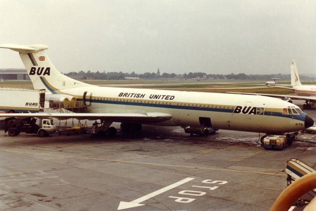 G-ARTA Vickers VC-10 Type 1109 of British United Airways - August 1970 - London Gatwick Airport Photo by Caz Caswell